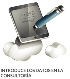 Introduce datos LOPD en la consultoria con LOPD MANAGER Software Profesional